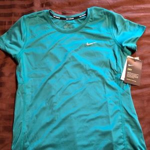 Nike Woman's Legend Short Sleeve Shirt - Teal
